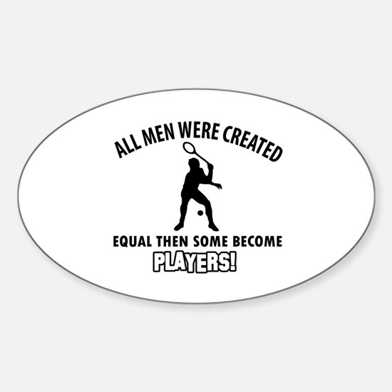 Squash Players Designs Sticker (Oval)