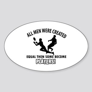 Rugby Players Designs Sticker (Oval)