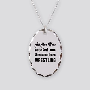 Some Learn Wrestling Necklace Oval Charm