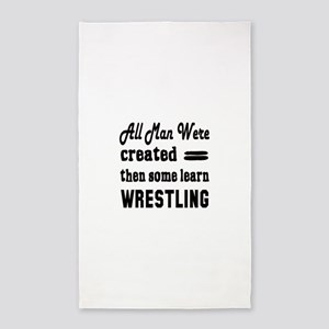 Some Learn Wrestling Area Rug