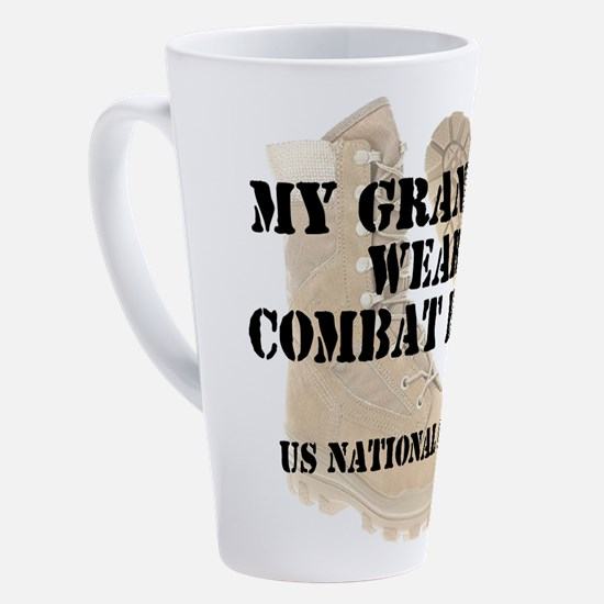Funny National guard 17 oz Latte Mug