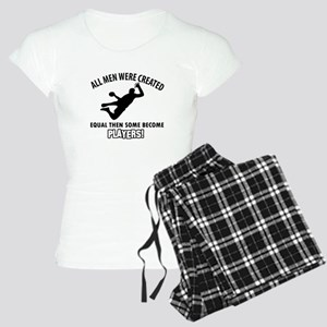 Handball Players Designs Women's Light Pajamas