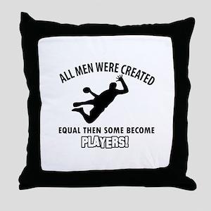 Handball Players Designs Throw Pillow