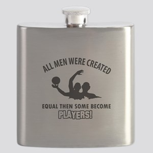 Waterpolo Players Designs Flask