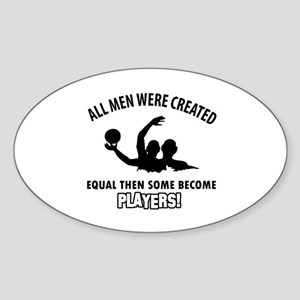 Waterpolo Players Designs Sticker (Oval)