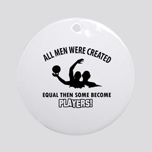 Waterpolo Players Designs Round Ornament