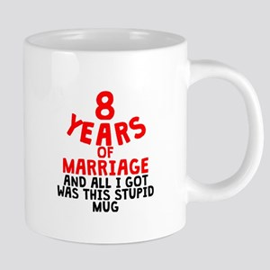 8 Years Of Marriage Mugs
