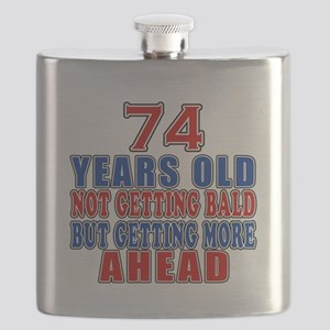 74 Getting More Ahead Birthday Flask