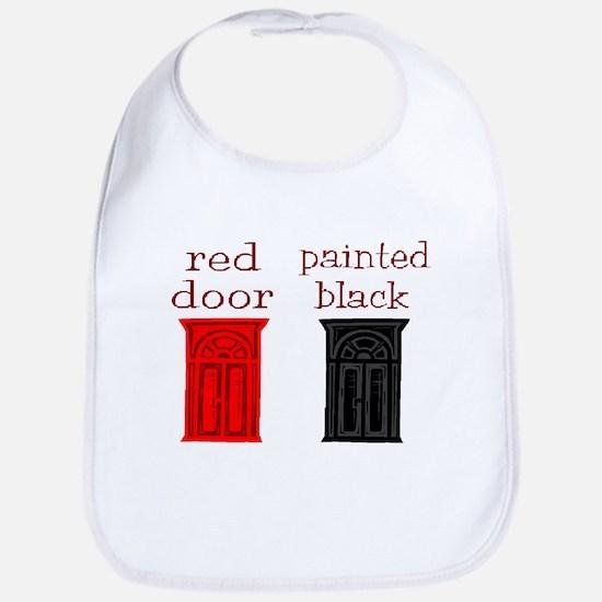 red door painted black Bib