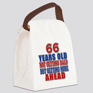 66 Getting More Ahead Birthday Canvas Lunch Bag