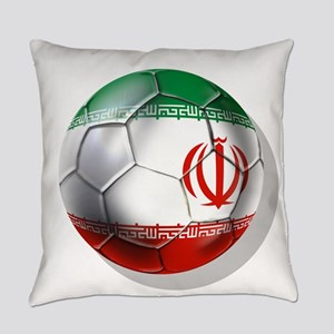 Iran Soccer Ball Everyday Pillow