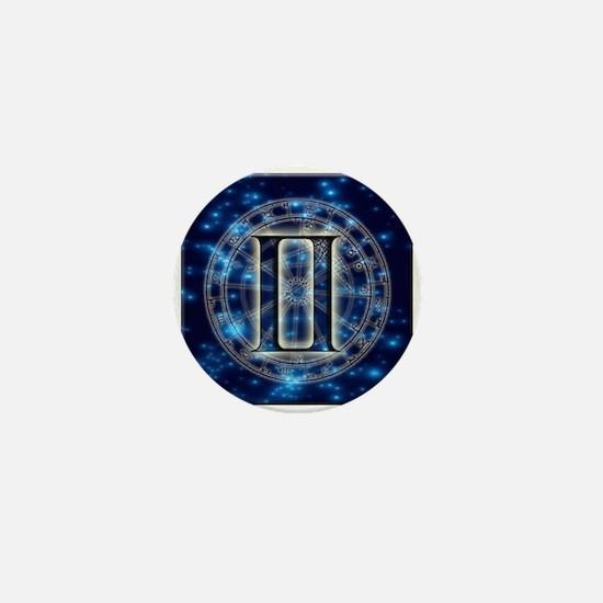 Astro Symbol Gemini Mini Button