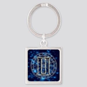 Astro Symbol Gemini Square Keychain