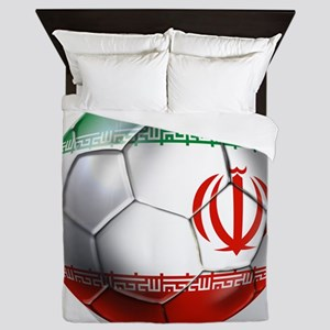 Iran Soccer Ball Queen Duvet