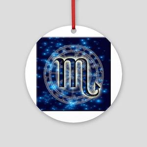 Astro Symbol Scorpio Round Ornament