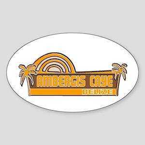Ambergis Caye, Belize Oval Sticker