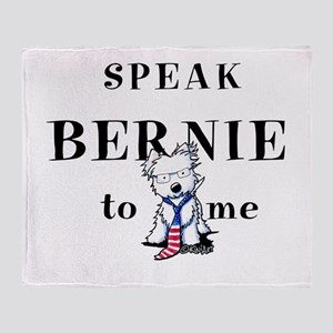 Bernie Sanders Westie Throw Blanket