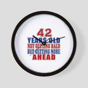 42 Getting More Ahead Birthday Wall Clock
