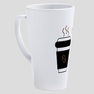 First, I drink the coffee, then I 17 oz Latte Mug