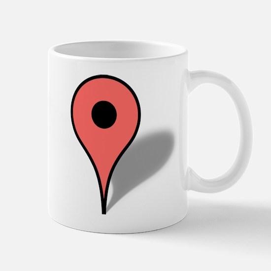 Google Map marker Mugs