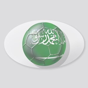 Saudi Arabia Football Sticker (Oval)