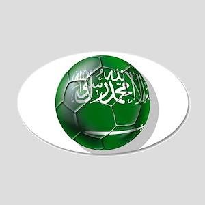 Saudi Arabia Football 35x21 Oval Wall Decal