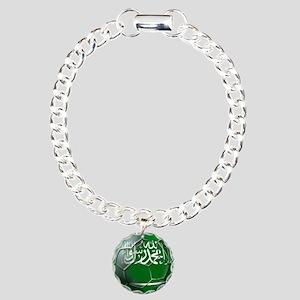 Saudi Arabia Football Charm Bracelet, One Charm