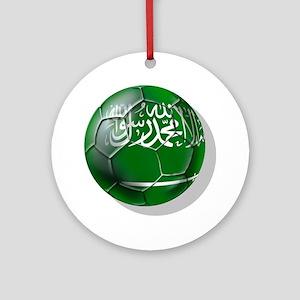 Saudi Arabia Football Round Ornament