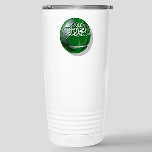 Saudi Arabia Football Stainless Steel Travel Mug