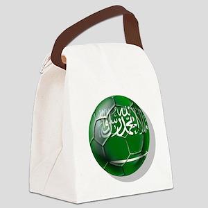 Saudi Arabia Football Canvas Lunch Bag