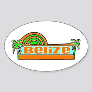 Belize Oval Sticker