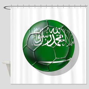Saudi Arabia Football Shower Curtain