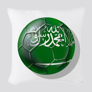Saudi Arabia Football Woven Throw Pillow