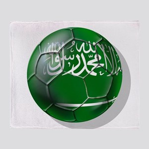 Saudi Arabia Football Throw Blanket