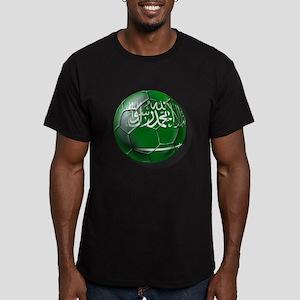 Saudi Arabia Football Men's Fitted T-Shirt (dark)