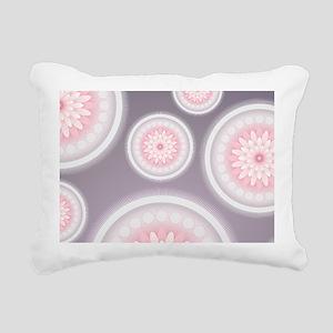 Abstract Floral Mandala Rectangular Canvas Pillow