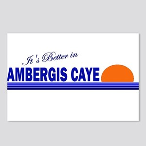 Its Better in Ambergis Caye, Postcards (Package o