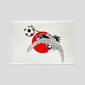Japan Football Crane Rectangle Magnet
