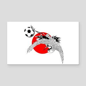 Japan Football Crane Rectangle Car Magnet