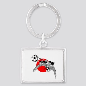 Japan Football Crane Landscape Keychain