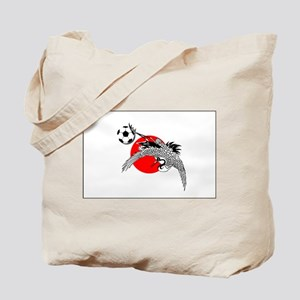 Japan Football Crane Tote Bag