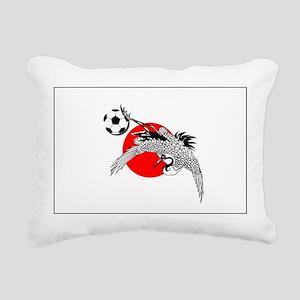 Japan Football Crane Rectangular Canvas Pillow