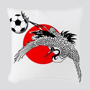 Japan Football Crane Woven Throw Pillow