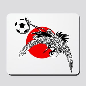 Japan Football Crane Mousepad