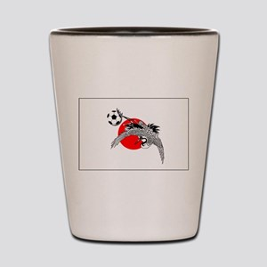 Japan Football Crane Shot Glass