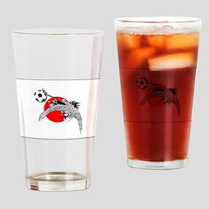 Japan Football Crane Drinking Glass