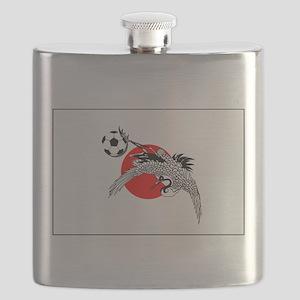 Japan Football Crane Flask
