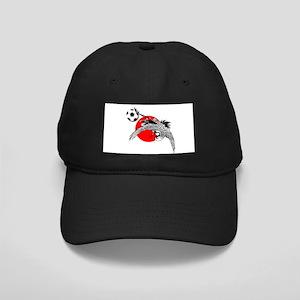 Japan Football Crane Black Cap