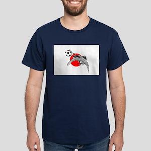 Japan Football Crane Dark T-Shirt