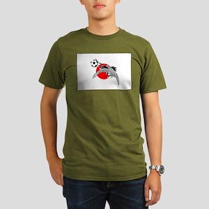 Japan Football Crane Organic Men's T-Shirt (dark)